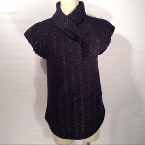 Marc by Marc Jacobs Black Wool Blouse Size XS